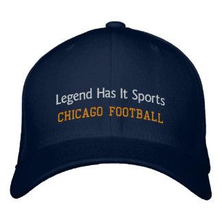La leyenda tiene lo se divierte/fútbol de Chicago Gorras De Beisbol Bordadas