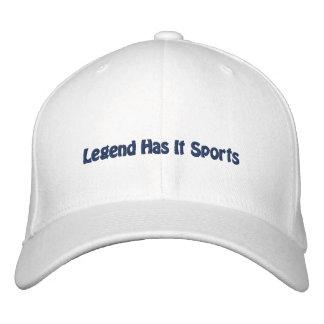 La leyenda tiene lo se divierte/fútbol de Dallas Gorros Bordados