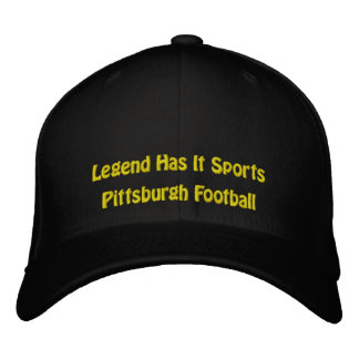 La leyenda tiene lo se divierte/fútbol de Pittsbur Gorra Bordada