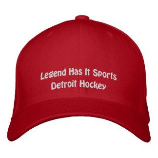 La leyenda tiene lo se divierte/hockey de Detroit Gorro Bordado