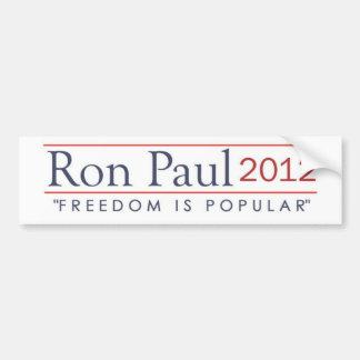 La libertad 2012 de Ron Paul es popular Pegatina Para Coche