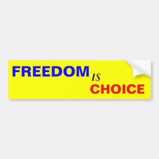 La libertad es bien escogida pegatina para coche