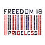 La libertad es Grunge inestimable Tarjeta Postal
