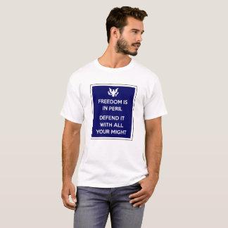 La libertad está en peligro camiseta