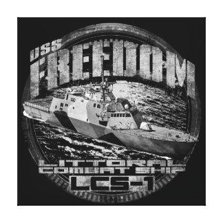 La libertad estiró la impresión de la lona