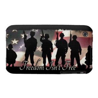 La libertad no es silueta militar libre del funda para iPhone 3