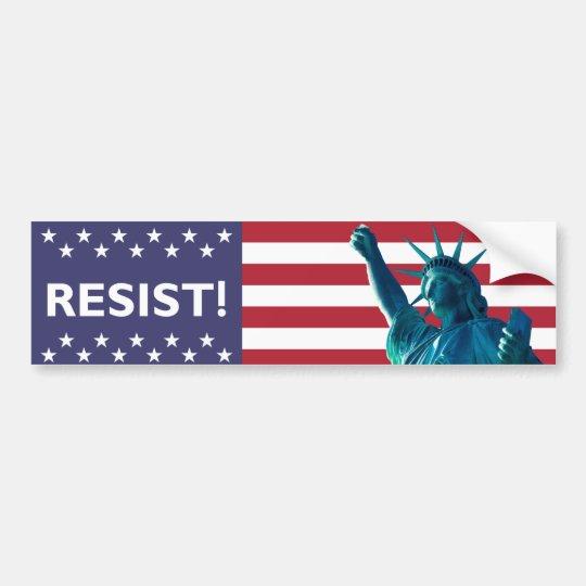 La libertad resiste el contexto de la bandera pegatina para coche