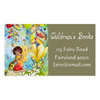 La librería de los niños de los libros de niños tarjetas de visita