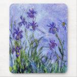 La lila de Monet irisa el cojín de ratón Alfombrillas De Ratón