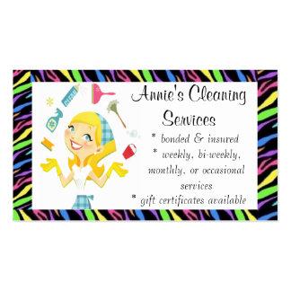 La limpieza mantiene color de la tarjeta de visita