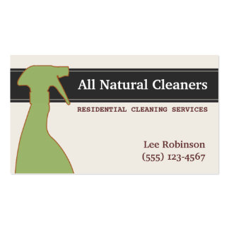 La limpieza natural orgánica mantiene verde plantilla de tarjeta personal