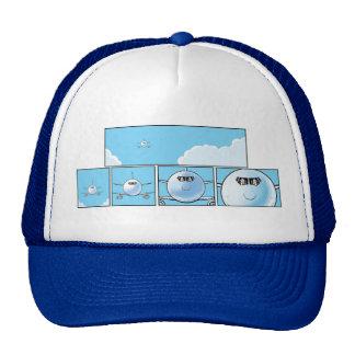 La línea aérea pilota el casquillo del dibujo gorro