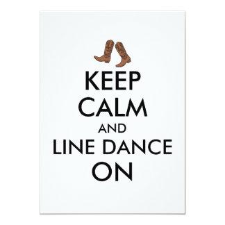 La línea regalo del baile guarda botas de vaquero invitación 12,7 x 17,8 cm
