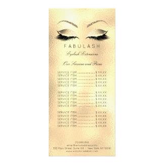 La lista de precios azota sal de la belleza del tarjeta publicitaria