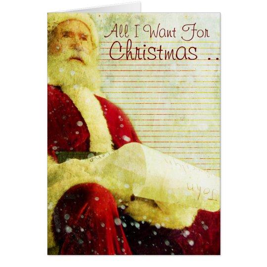 La lista del navidad tarjeta de felicitación