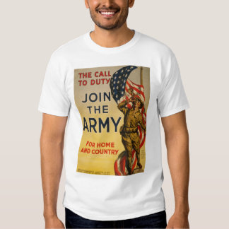 La llamada al deber - únase a al ejército camiseta