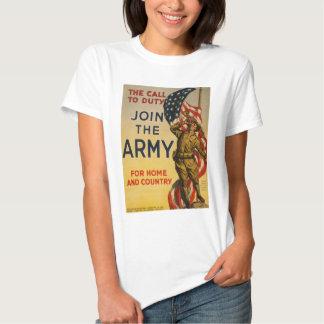 La llamada al deber - únase a al ejército camisetas
