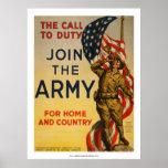 La llamada al deber - únase a al ejército póster