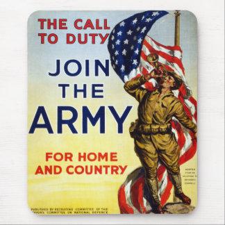 La llamada al deber - únase al poster del ejército alfombrilla de ratón