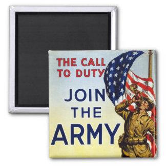 La llamada al deber - únase al poster del ejército imán para frigorifico