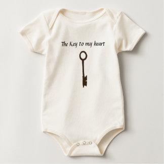 La llave maestra, la llave a mi corazón body para bebé