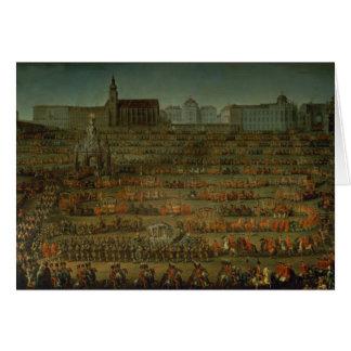 La llegada de Isabel de Parma Tarjeta De Felicitación