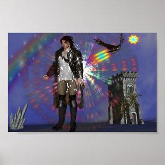 La llegada de Rainbowhawk Póster