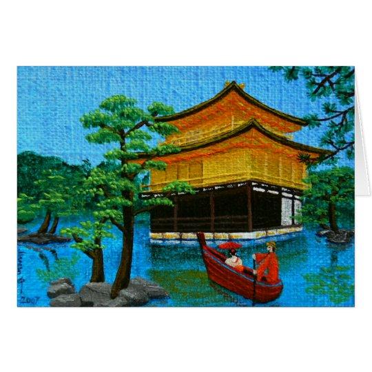 """La """"llegada del geisha """" tarjeta de felicitación"""