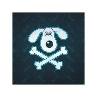 La lluvia azul del dibujo animado del perro impresiones de lienzo