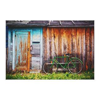 La lona envuelta de la bicicleta 1 verde impresión en lienzo estirada