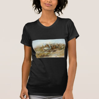 La lucha de Custer de Charles Marion Russell Camisetas