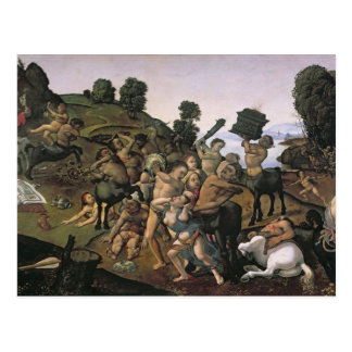 La lucha entre el Lapiths y los Centaurs Postal