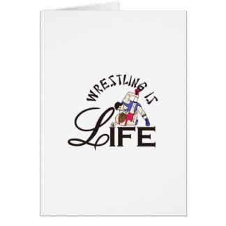 La lucha es vida tarjeta de felicitación