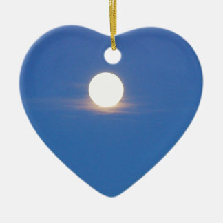 La Luna Adorno De Cerámica En Forma De Corazón