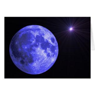 La luna azul que le falta carda tarjeta