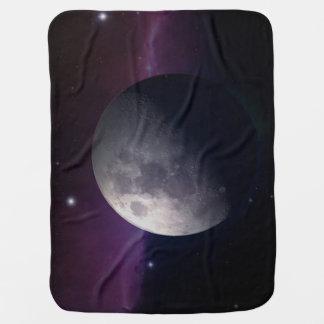 La luna en la manta del bebé mantitas para bebé