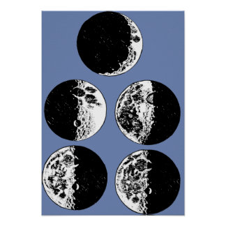 La luna organiza arte de la antigüedad de la