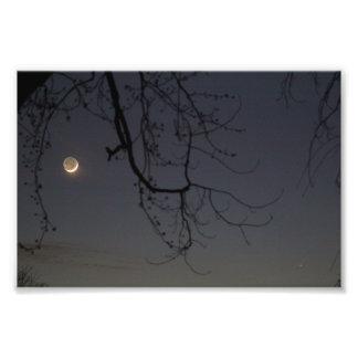 La luna y Mercury Arte Fotografico