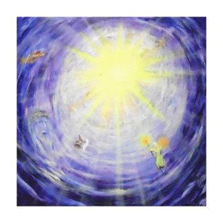 """La luz -40"""" x 40"""" del cielo lona de la galería impresión en lienzo"""