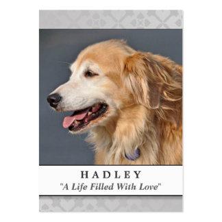 La luz conmemorativa de la tarjeta del perro no tarjetas de visita grandes