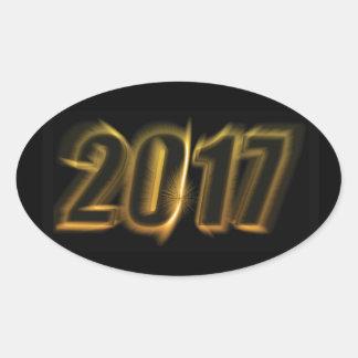 La luz del Año Nuevo estalló al pegatina 2017