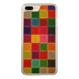 La madera colorida de la cereza talló el caso más funda para iPhone 7 plus de carved
