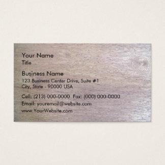 La madera emergió textura tarjeta de negocios