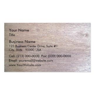La madera emergió textura plantillas de tarjeta de negocio