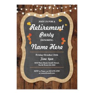 La madera jubilada rústica del fiesta de retiro de invitación 12,7 x 17,8 cm
