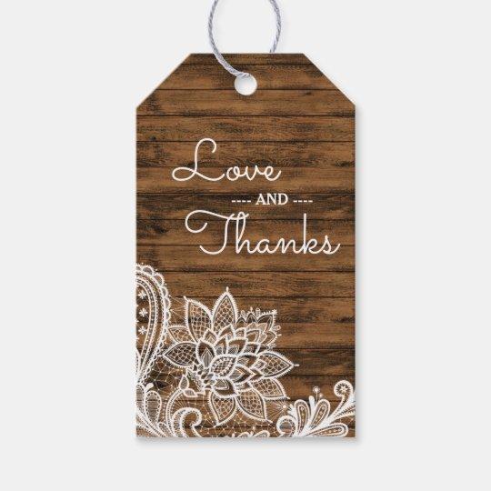 La madera rústica y ata el favor que se casa del | etiquetas para regalos