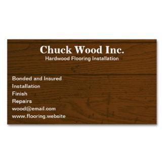La madera suela la falsa madera del | tarjetas de visita magnéticas (paquete de 25)