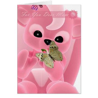 La madre, el día de madre, amó mucho a la mamá tarjeta de felicitación