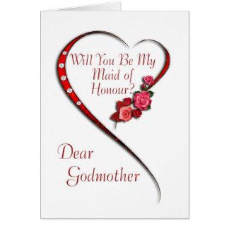 La madrina, criada del corazón que remolina del tarjeta de felicitación