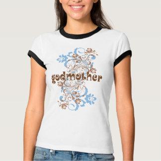 La madrina floreció la camiseta del regalo del